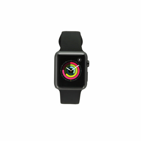 Apple Watch Sport (1. Generation) 42mm Aluminiumgehäuse spacegrau mit Sportarmband schwarz