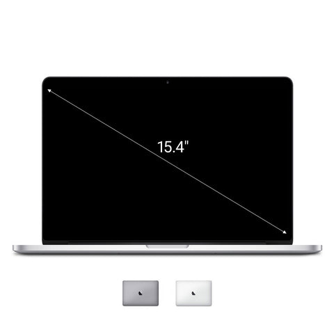 Apple Macbook Pro 2012 15,4'' mit Retina Display Intel Core i7 2,3 GHz 256 GB SSD 8 GB silber