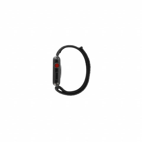 Apple Watch Series 3 Aluminiumgehäuse spacegrau 42mm mit Nike+ Sport Loop schwarz/platinum-grau (GPS + Cellular) aluminium spacegrau