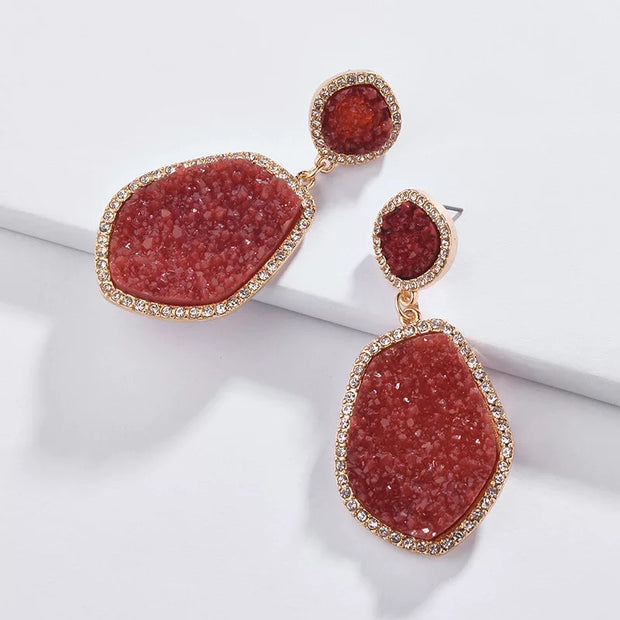 Wine Colored Earrings