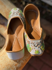 Green Flower Shoes