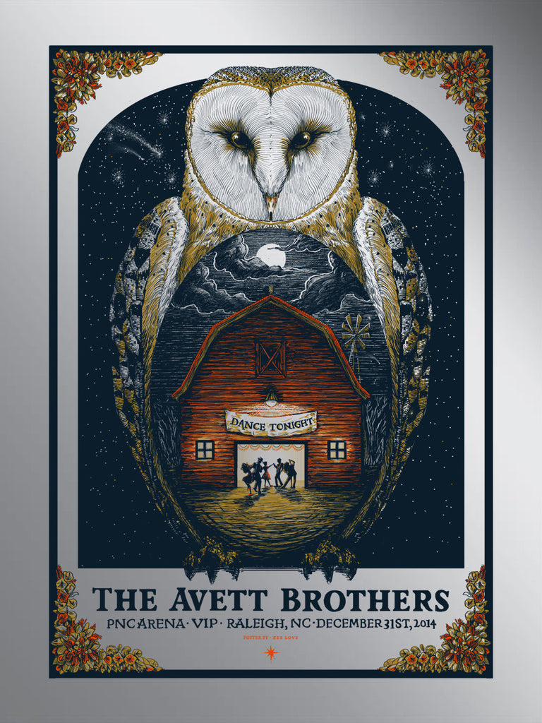 Avett Brothers - New Year's Eve - VIP FOIL - 2014