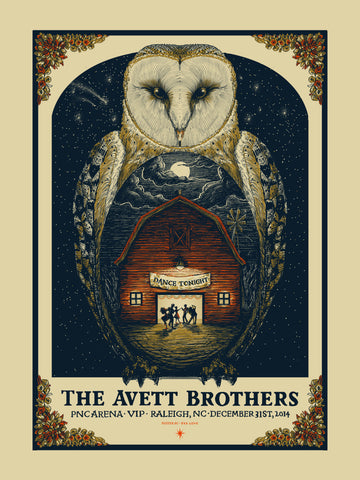 Avett Brothers - New Year's Eve - VIP - 2014