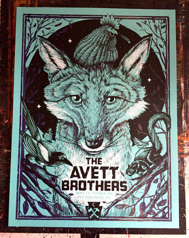 Avett Brothers - Pittsburgh Blue Variant