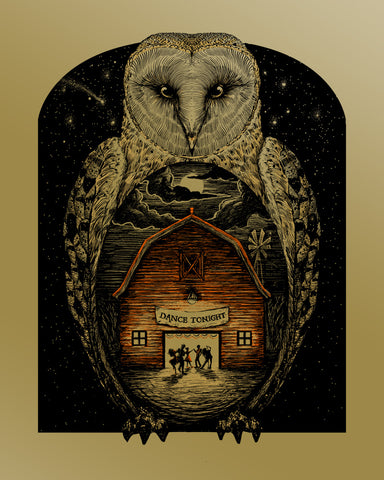 Barn Owl - Gold Foil