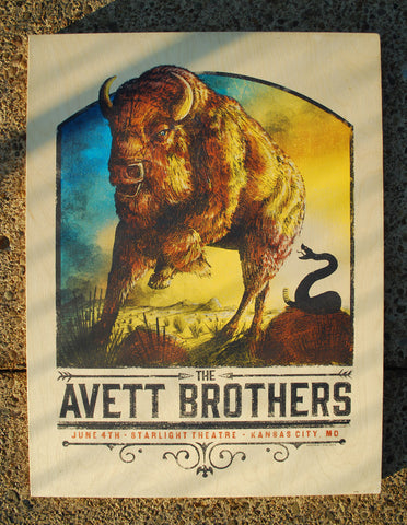 Avett Brothers KC - WOOD