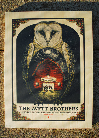 Avett Brothers NYE - WOOD