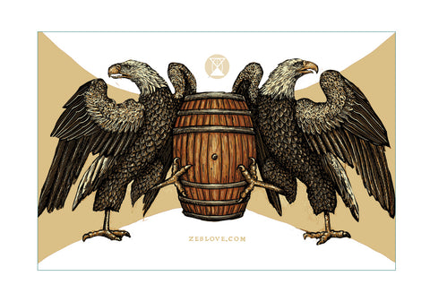 Eagle & Whiskey Sticker
