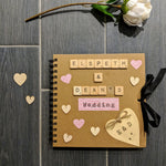 Kraft Memory Scrapbook, Mr and Mrs Guestbook, Wedding present, wedding planning book