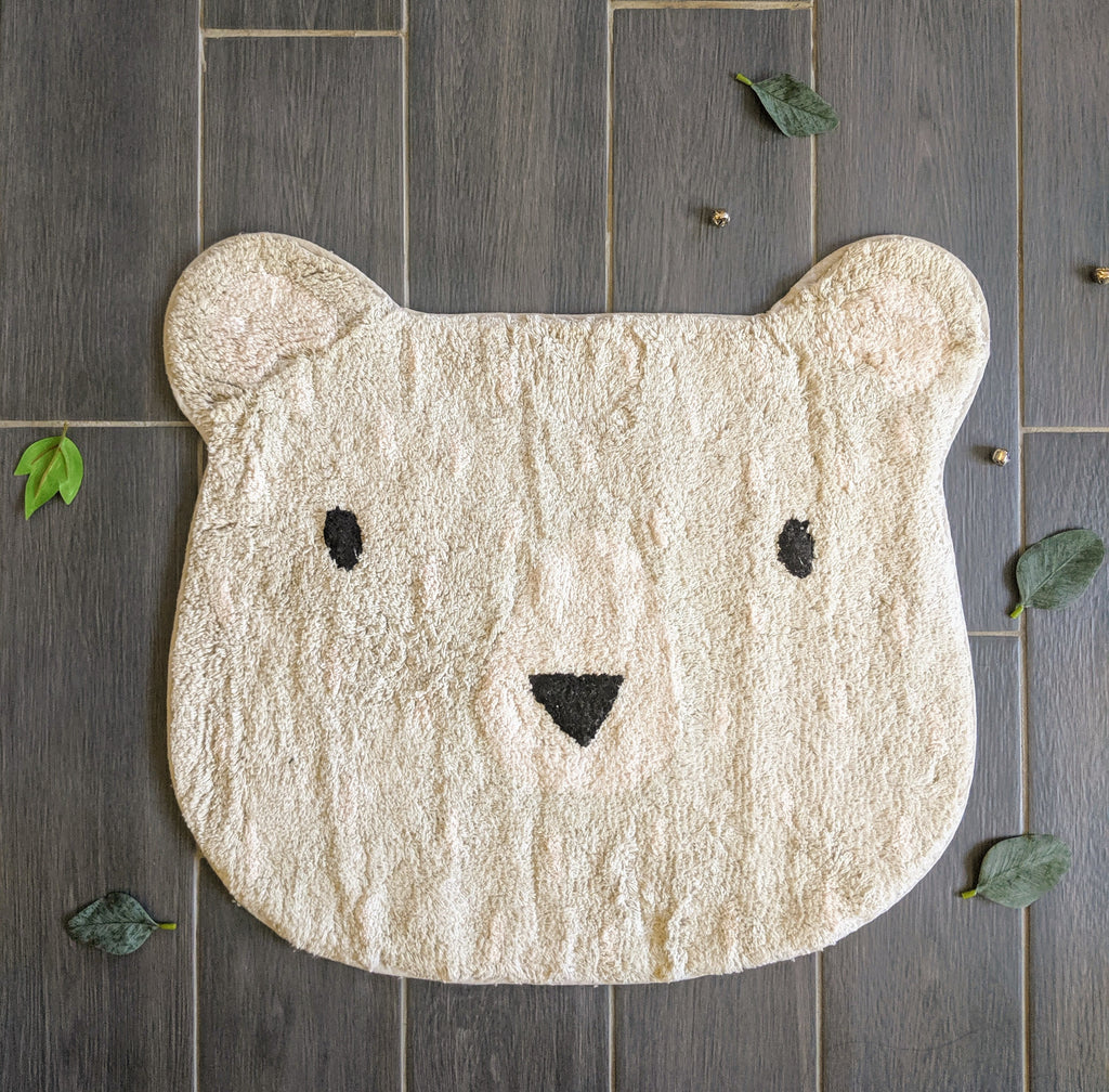 Baby bear rug, perfect addition to any little girl or boy's room. Home decor for nursery and children's room.