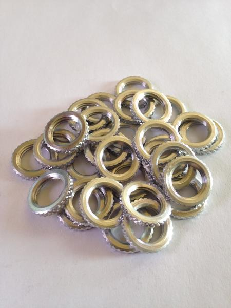 Pipe Washers (Knurled) (Nickel)