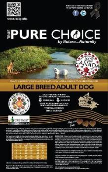 Large Breed Adult Dog Food from True Pure Choice
