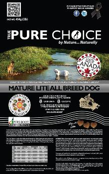 Mature Lite Dog Food from True Pure Choice
