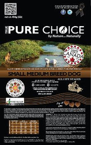 Small & Medium Breed Dog Food from True Pure Choice