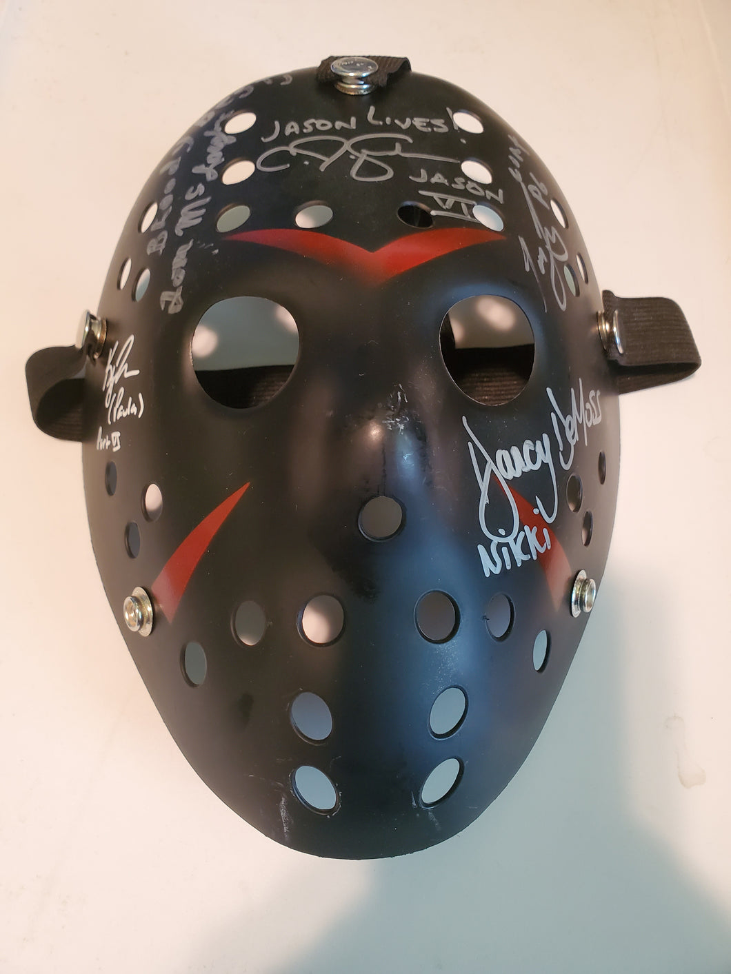 Friday the 13th part 6 cast signed hockey mask