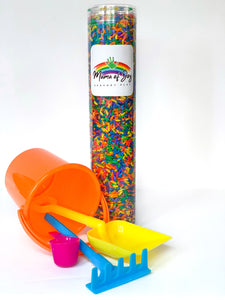 Rainbow Rice Sensory Tube