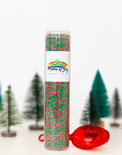 Christmas Sensory Rice Tube