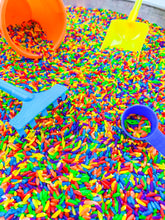 Load image into Gallery viewer, Rainbow Rice Sensory Tube