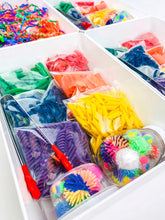 Load image into Gallery viewer, Rainbow Mini Sensory Bin