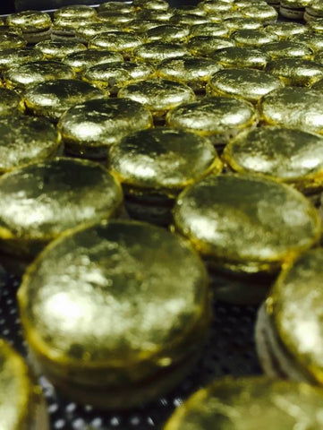 Macarons Covered With Gold!!