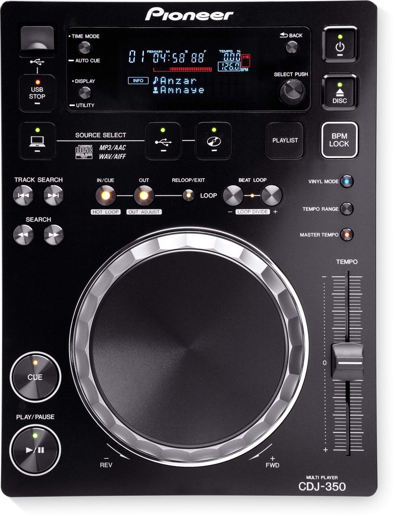 Pioneer rekordbox-ready digital deck CDJ-350