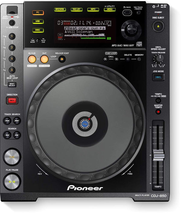 Pioneer Digital deck with full scratch jog wheel and rekordbox support CDJ-850-K