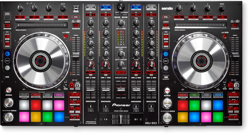 Pioneer 4-channel controller for Serato DJ Pro and dedicated buttons for Serato Flip DDJ-SX2