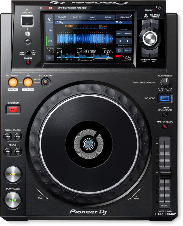 Pioneer rekordbox-ready, digital deck with high-res audio support XDJ-1000MK2
