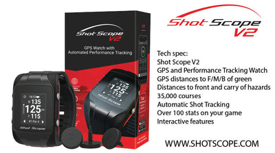 Win a Shot Scope V2 GPS + Performance Tracking Watch