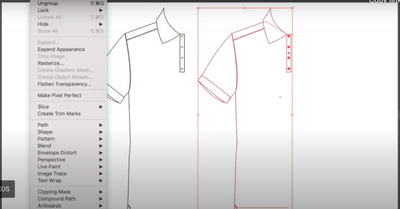 An insight into the design process to create a polo shirt