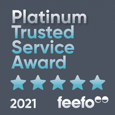 Winners of FEEFO 2021 Platinum Trusted Service Award
