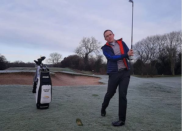 Bunker Mentality Marcus Mohr Tech Hoodie On Course Golf