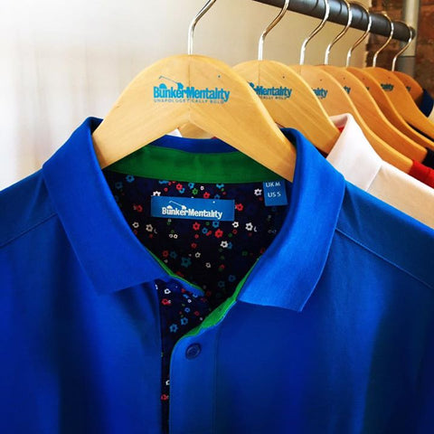 Bunker Mentality Cotton Polo Shirts