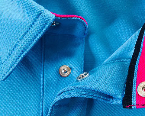 Bunker Mentality Duo Core Golf Shirt - Close Up Details