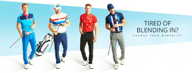 Bunker Mentality About Us Page with Mens Golf Outfits