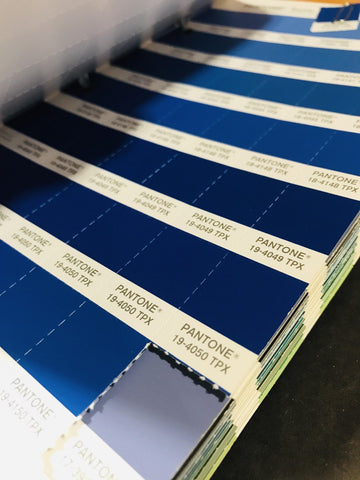 Bunker Mentality Pantone Colour Book - Blues
