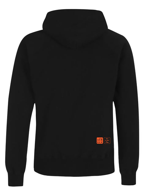 Bunker Mentality Mens Black Cotton Hoodie - Back