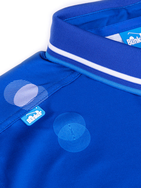 Cmax Overlap Spot Golf Polo Shirt - Electric Blue