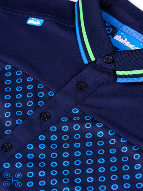 Cmax Bunker Spot Tech Golf Polo Shirt - Navy