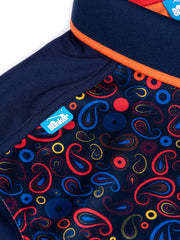 CMAX Paisley Golf Polo Shirt - Orange