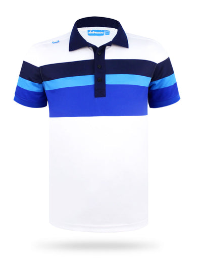 CMax Vito Stripe Polo Shirt - White