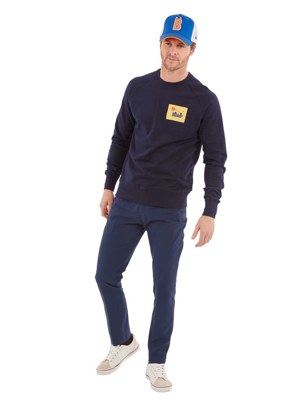Bunker Flag Golf Sweatshirt - Navy