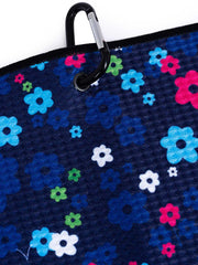 Floral Tour Golf Towel - Navy