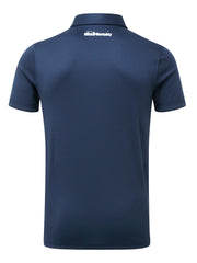 Bunker Mentality Cmax Navy Golf Shirt with Button Down Collar - Back