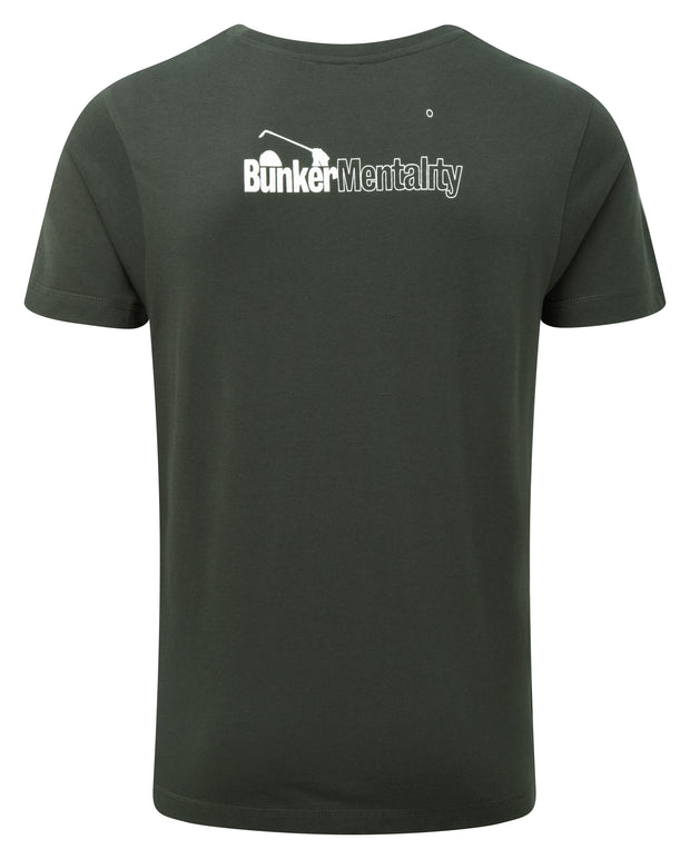 Bunker Mentality golf rocks graphic print mens grey golf t shirt - back