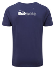 Bunker Mentality golf rocks graphic print mens navy golf t-shirt - back