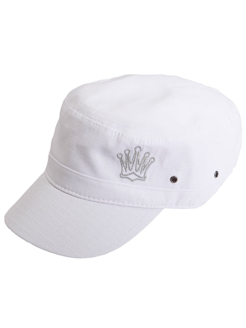 Queen of the Green White Womens Golf Army Cap