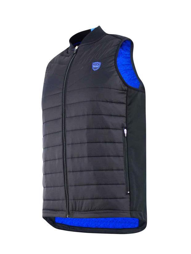 Puffer Caddy Jackson Windproof Golf Gilet - Black