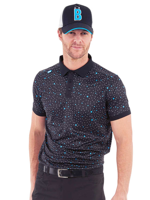 Cmax Golf Star Polo Shirt - Black