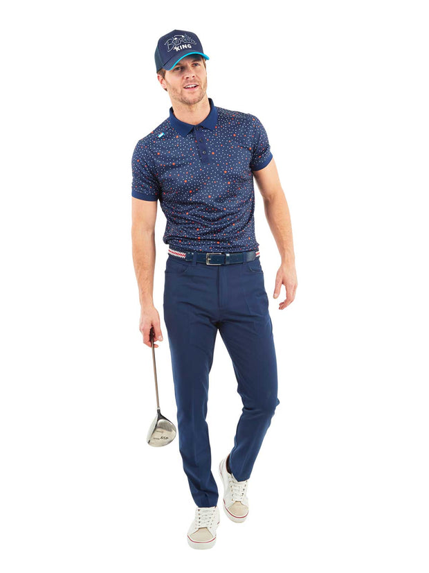 Cmax Golf Star Polo Shirt - Navy